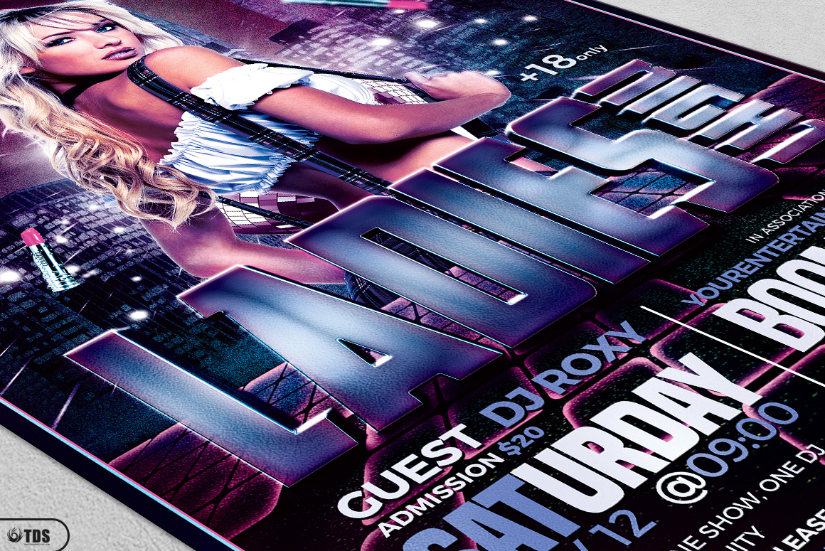 Ladies Night Flyer Bundle V2 example image 9
