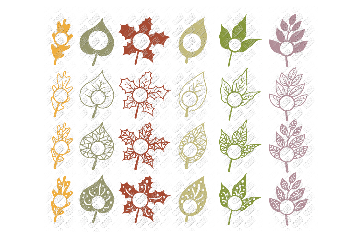 Leaf SVG Fall Leaves Autumn in SVG, DXF, PNG, EPS, JPEG example image 4