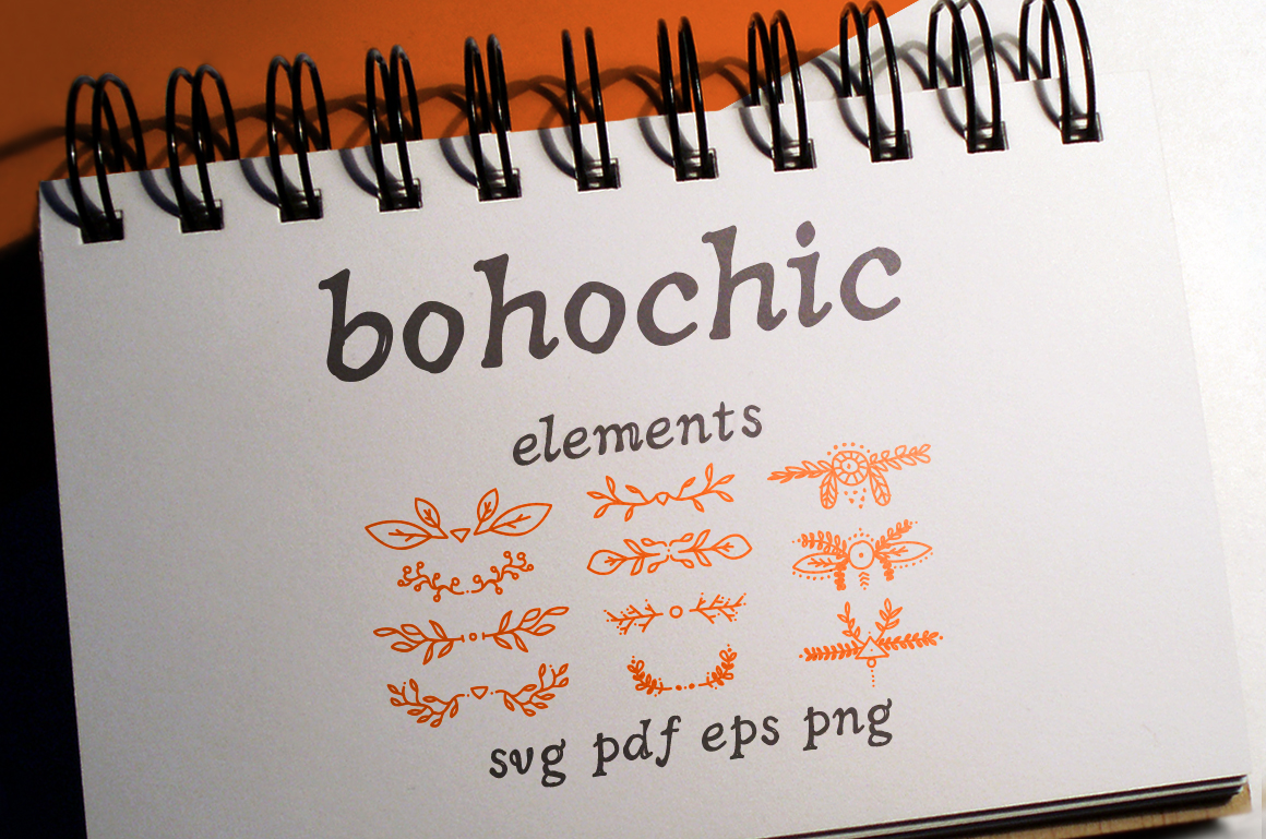 50 Boho-Chic Elements Vectors example image 1