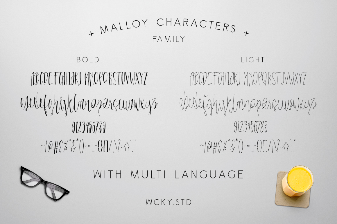 Malloy Font +Elements example image 4