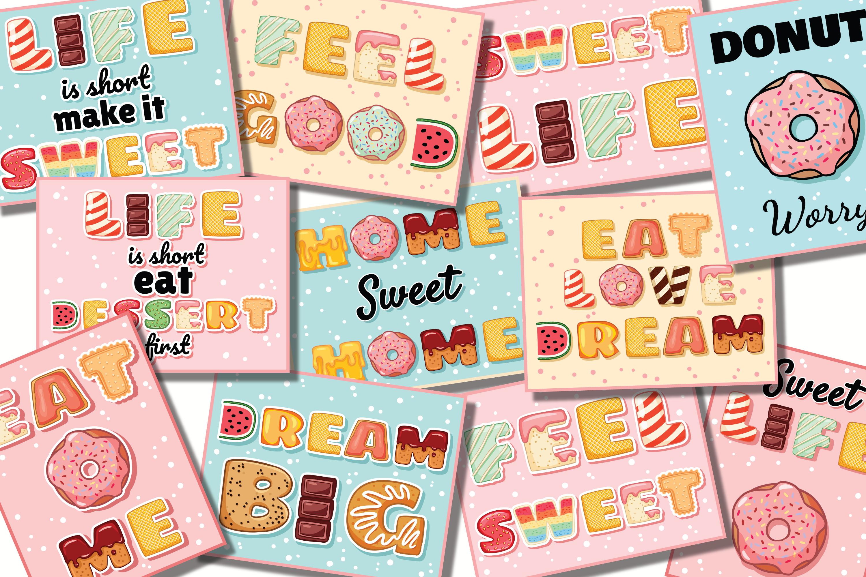 Tasty Alphabet & Yummy Postcards Set example image 2
