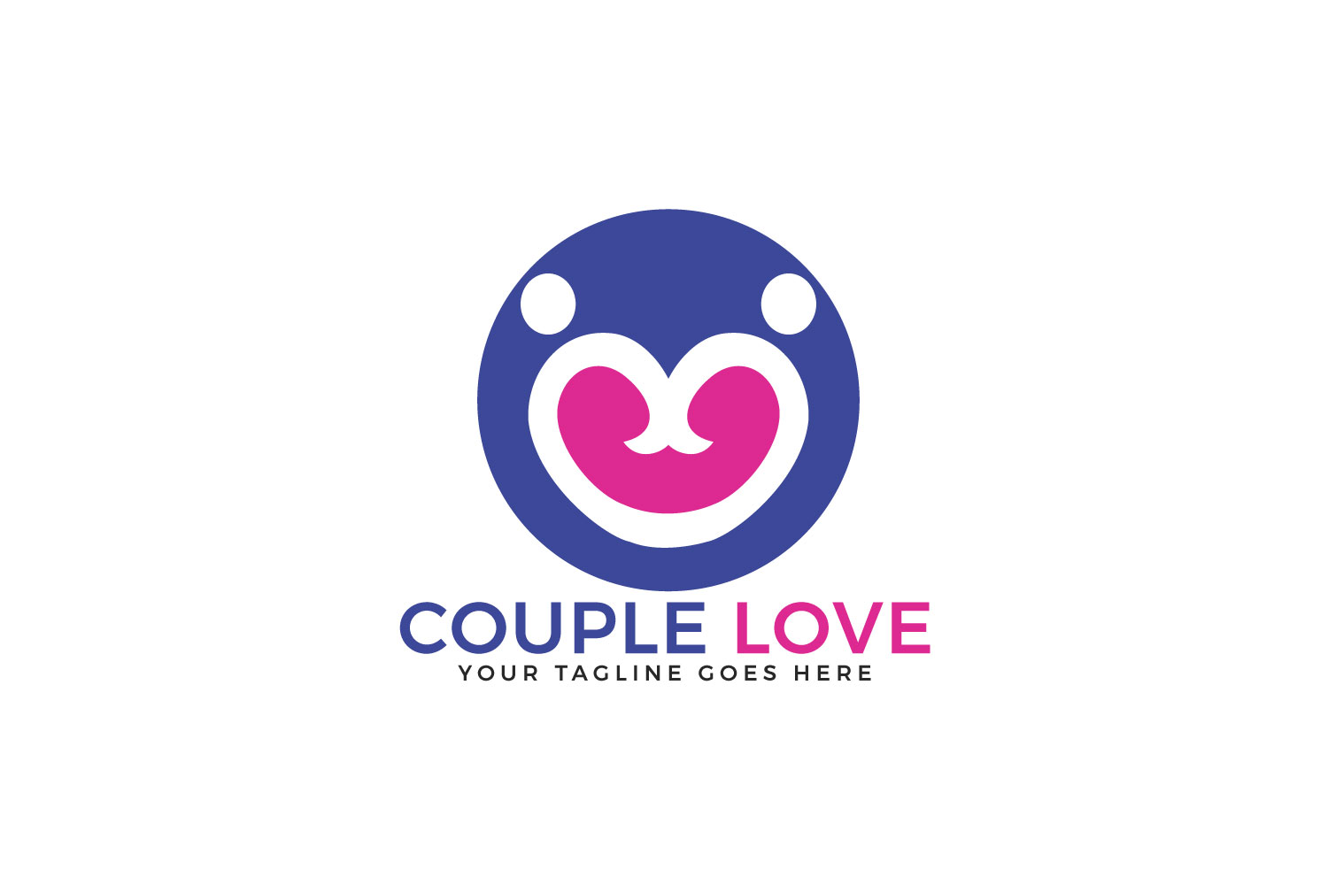 Couple Love Vector Logo Design. example image 1