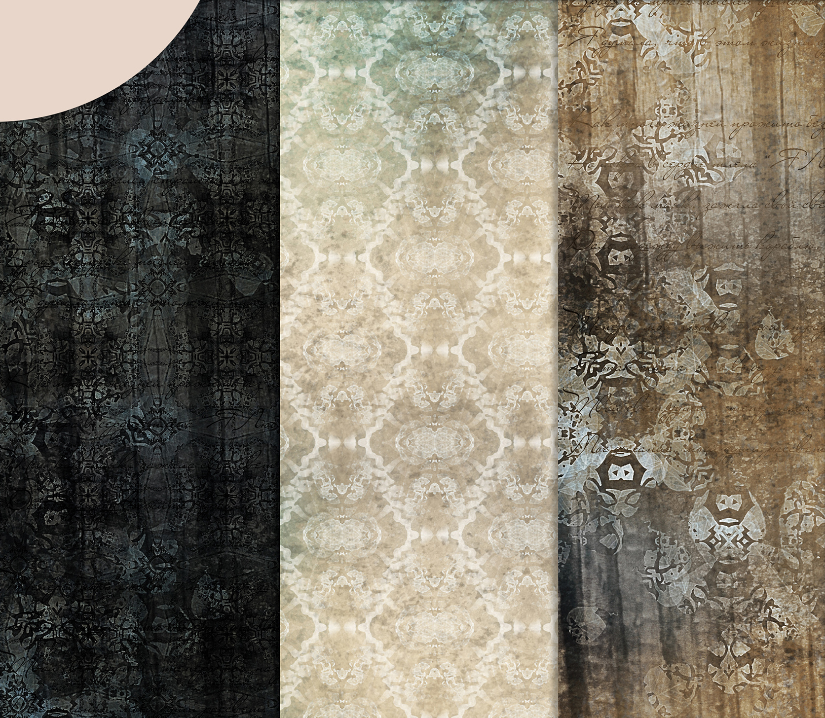 Beige-Blue Old Shabby Digital Backgrounds example image 2