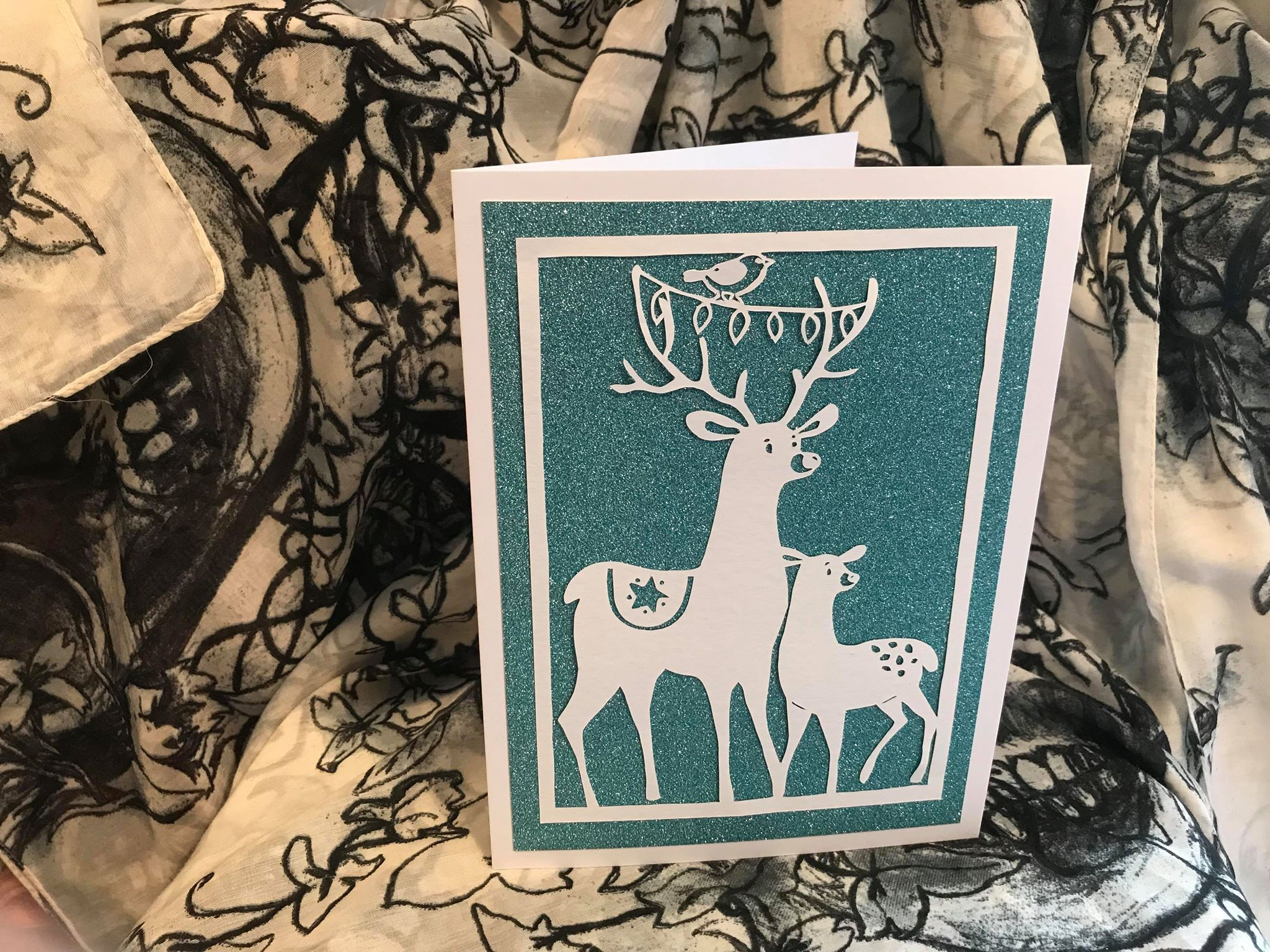 Bird and Bear's Xmas Collection x 8 papercutting templates example image 9