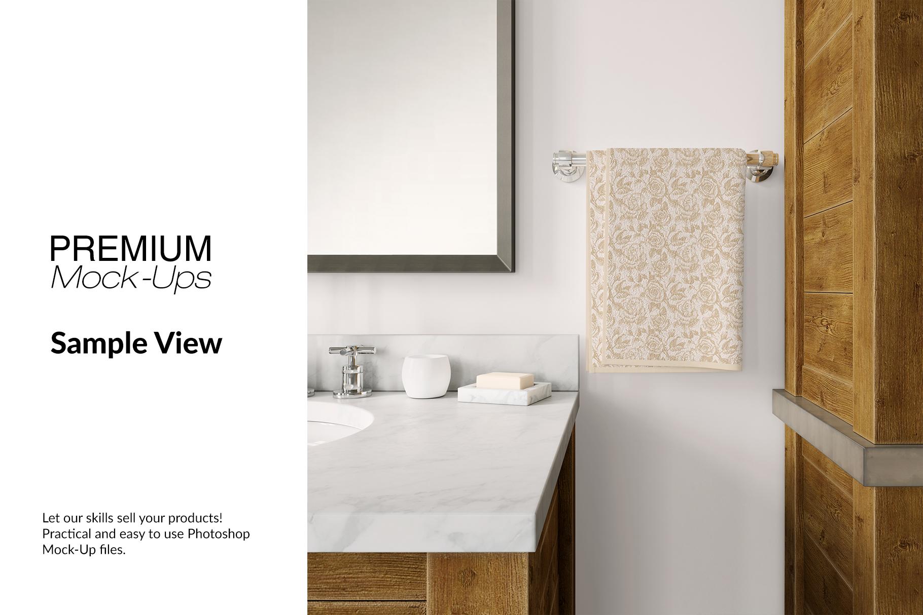 Bath Towels Mockup Set example image 7