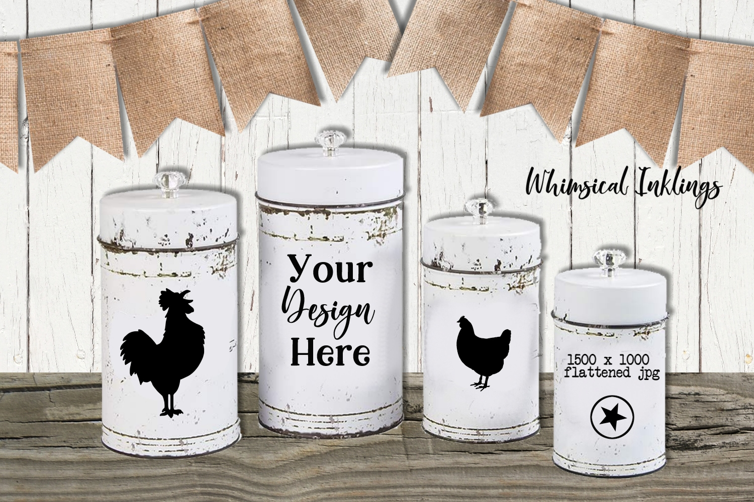Farmhouse Canisters Mock Up example image 1
