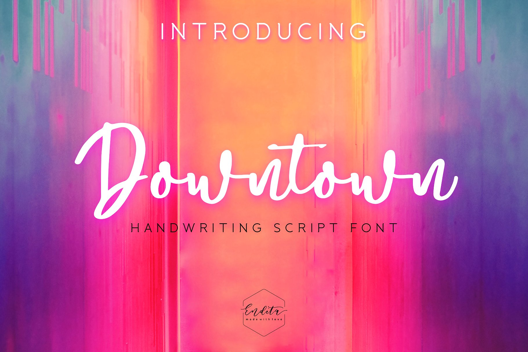 Downtown - Handwriting Script Font example image 1