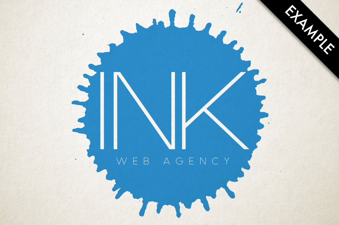 Ink drops vector example image 3