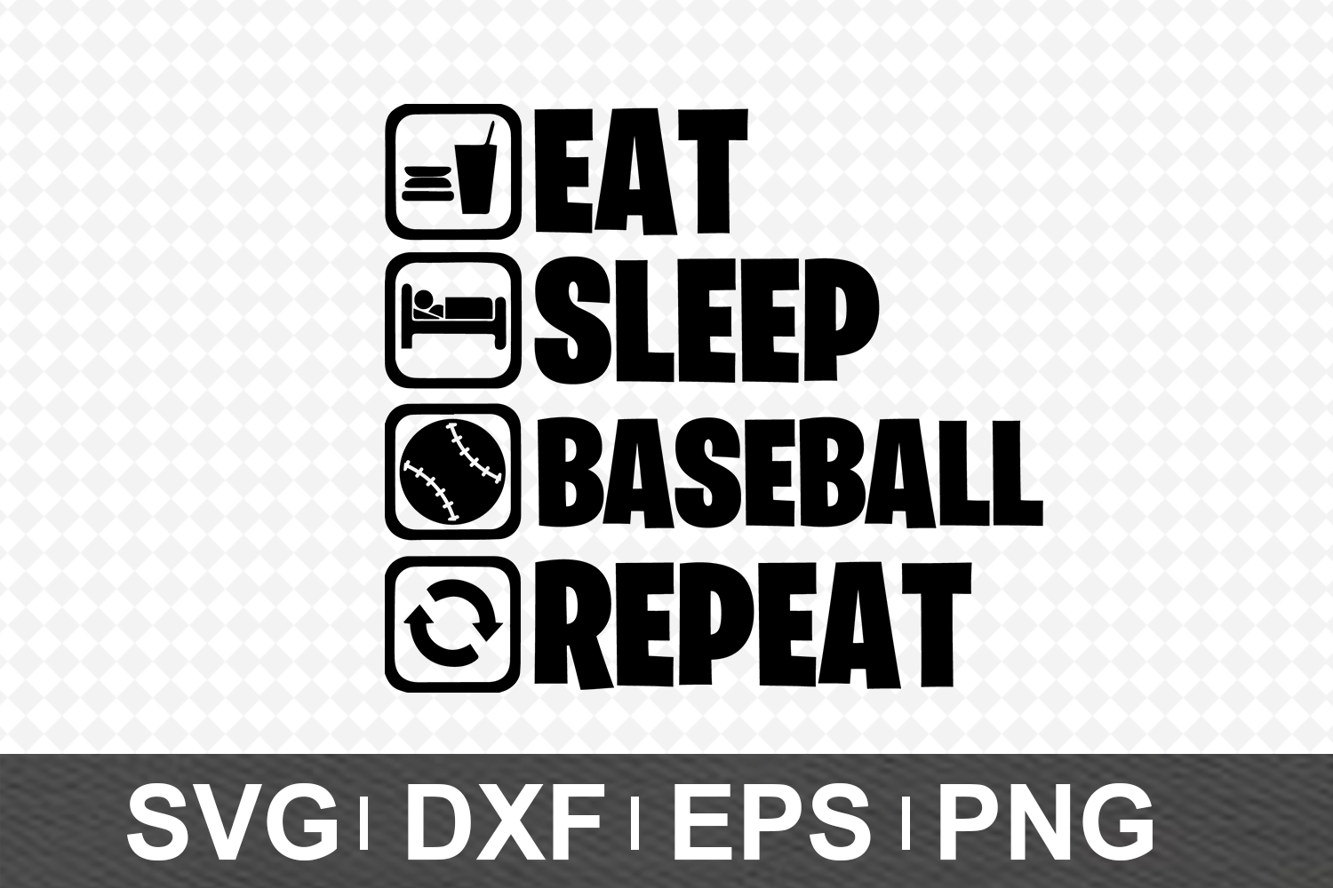 Eat Sleep SVG Bundle example image 3