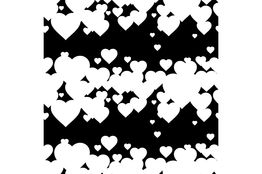 Set of 12 backgrounds with Hearts on Valentine's Day. example image 17