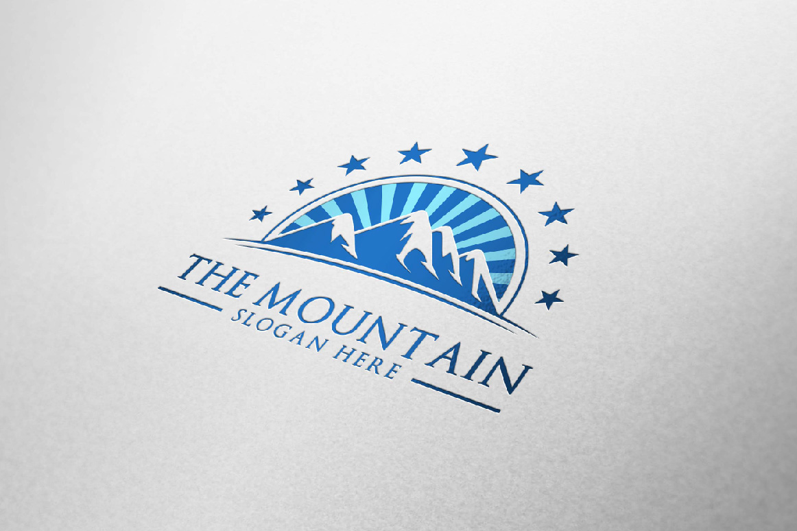 Mountain, summit logo template example image 5