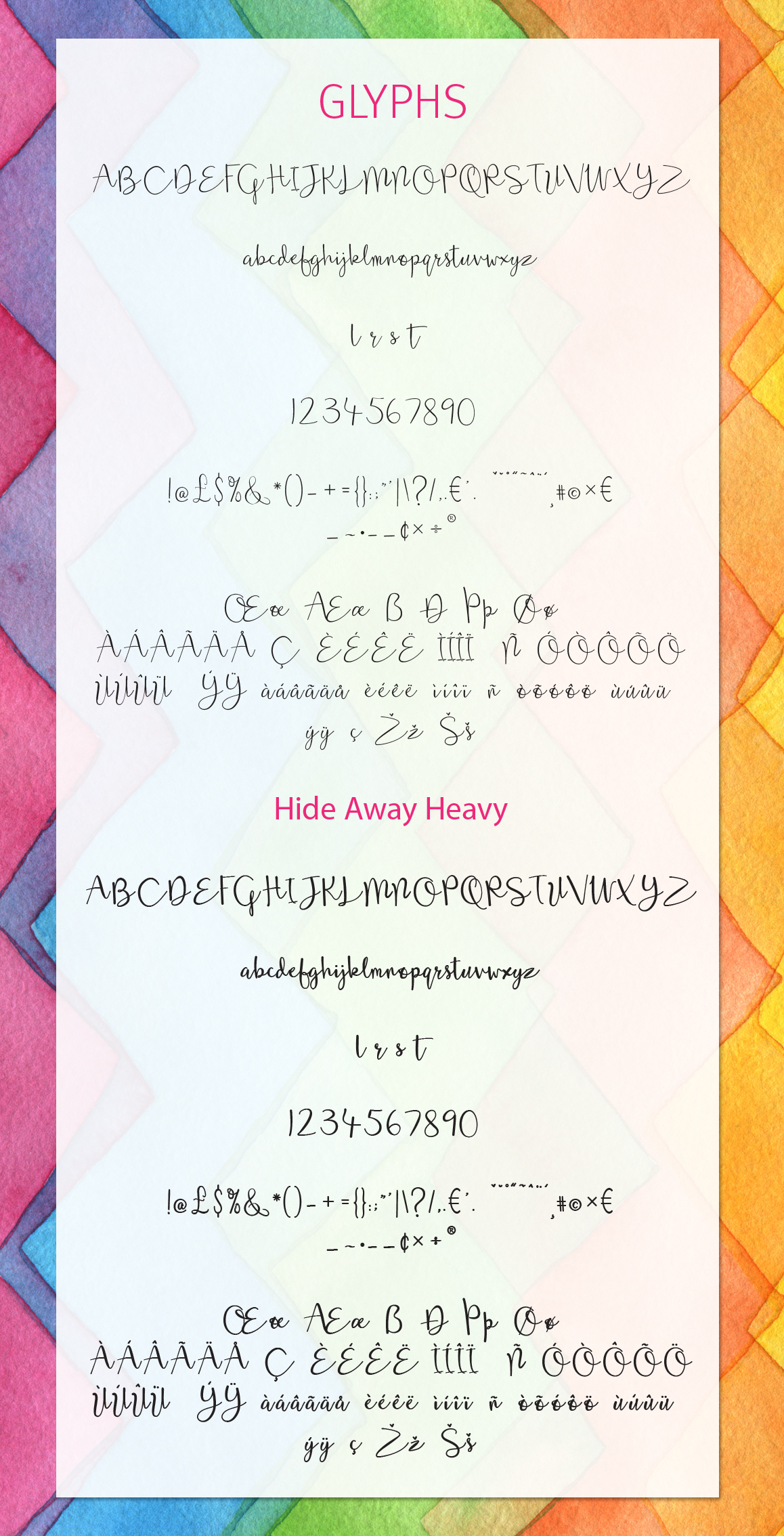 Hide Away Font Duo example image 2