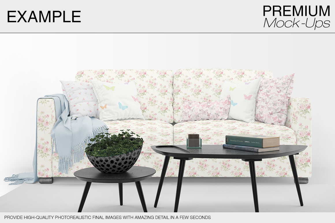 Sofa & Pillows Pack example image 8