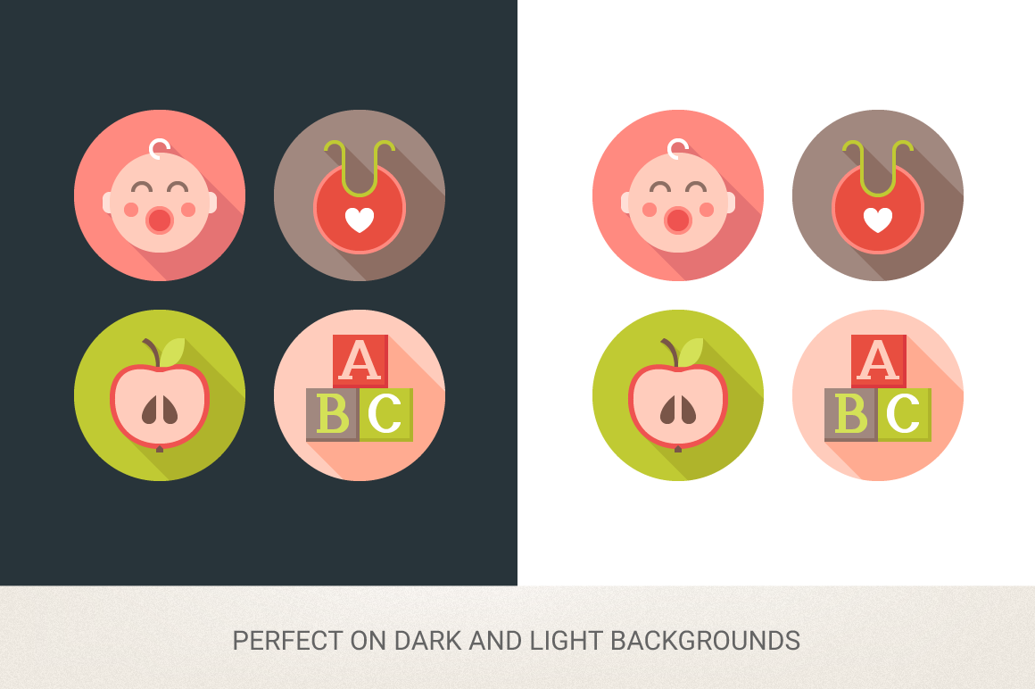 Round Baby Icons example image 2