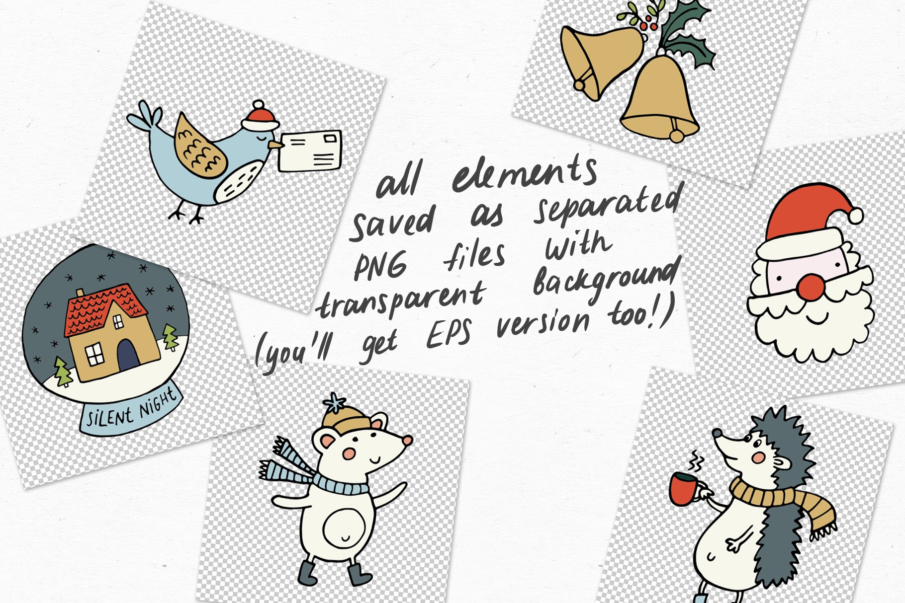 Cozy Christmas Clipart example image 8