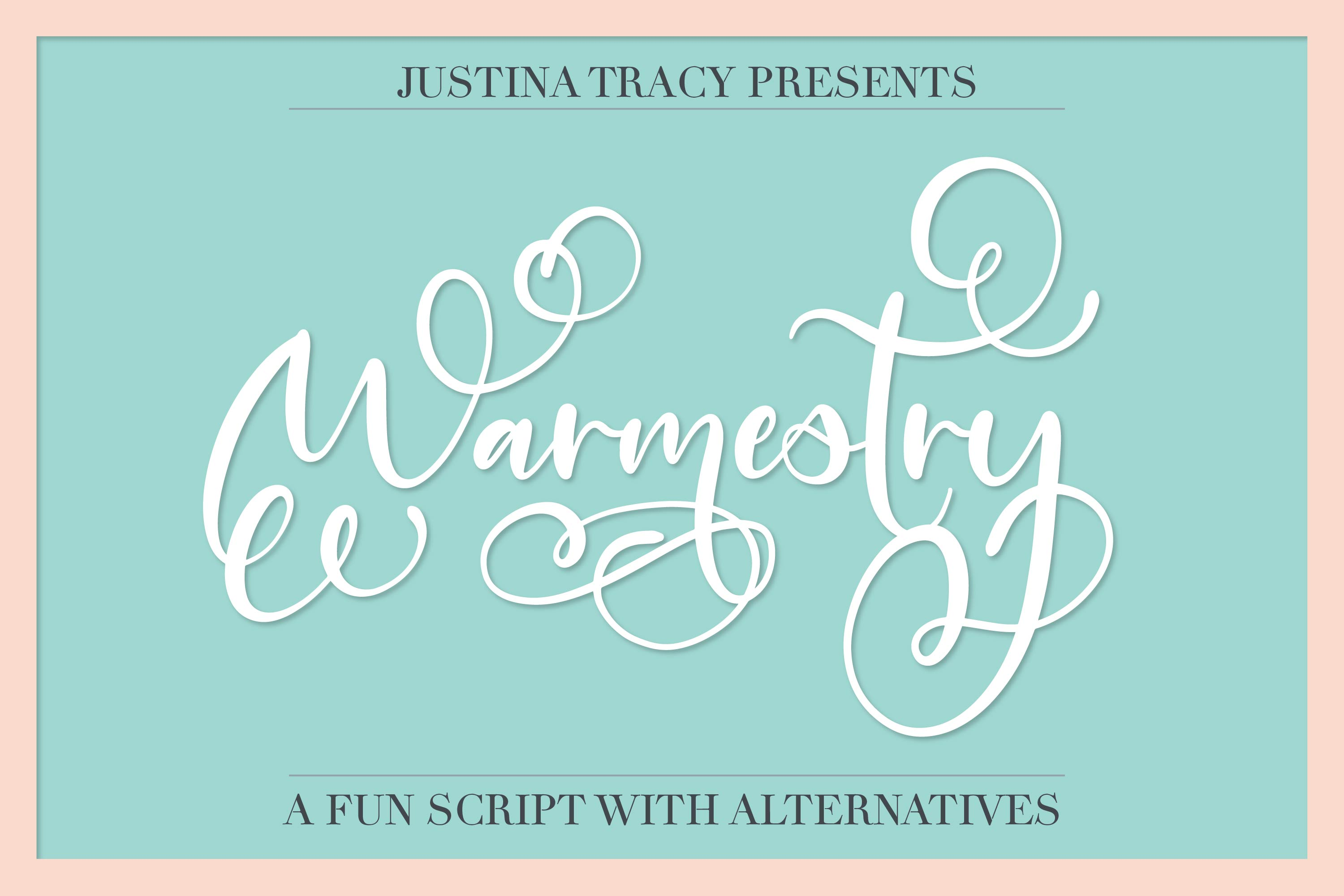 Warmestry - A Script With Swirls & Flourishes example image 1