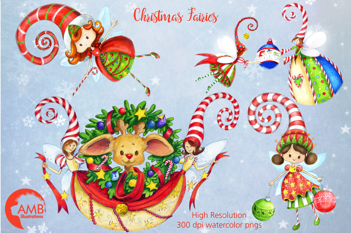 I love Christmas Bundle watercolor cliparts, graphics illustration AMB-1673 example image 7