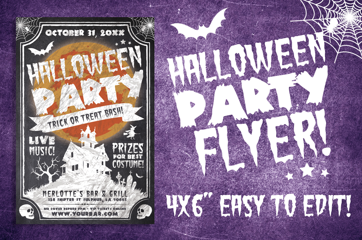 Chalk Halloween Flyer example image 2