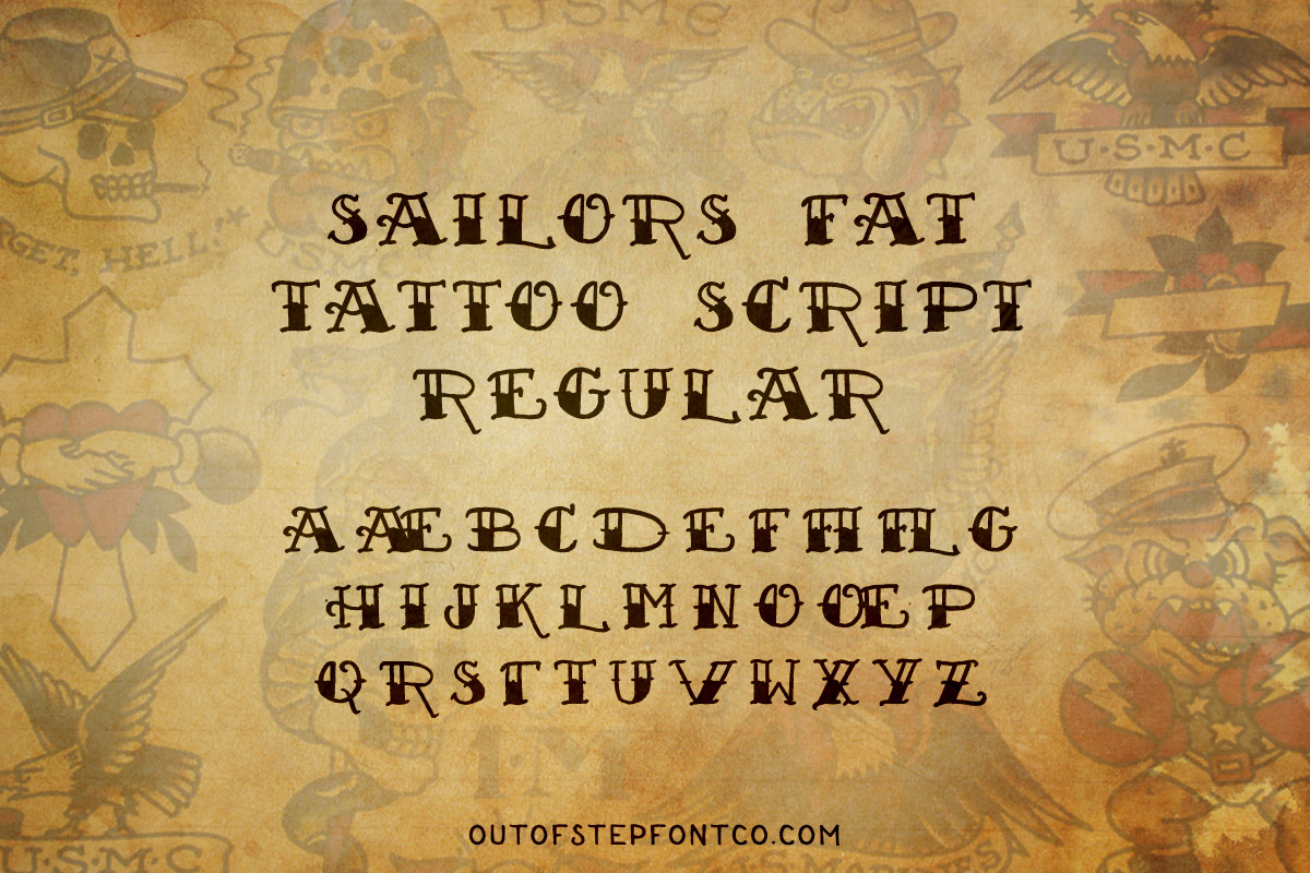 Tattoo Font Collection example image 10