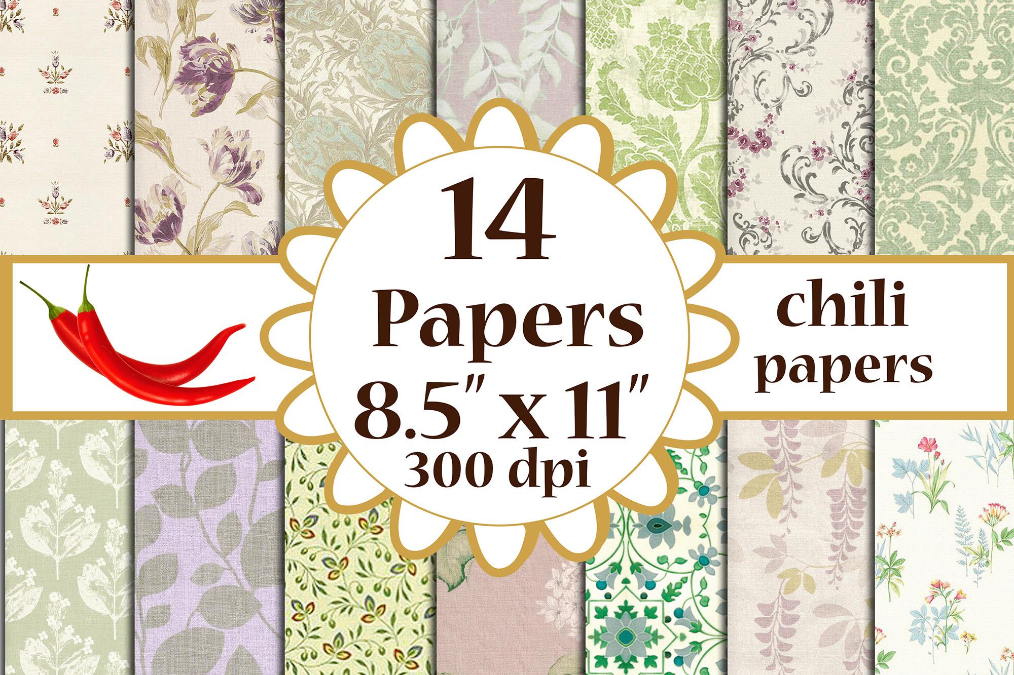 Floral digital paper,Floral Decoupage, Decoupage paper, A4