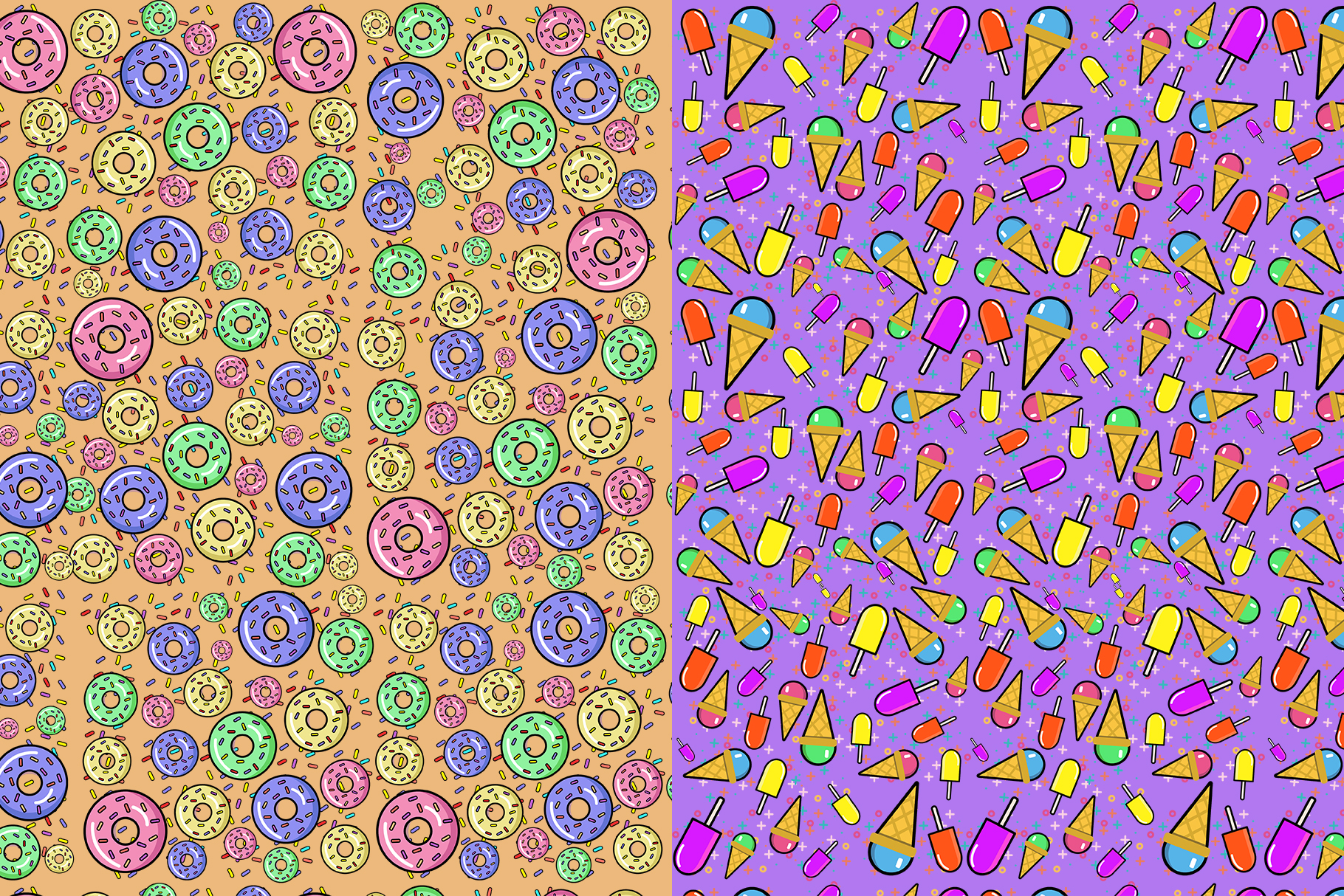 10 Sweets Seamless Patterns example image 8