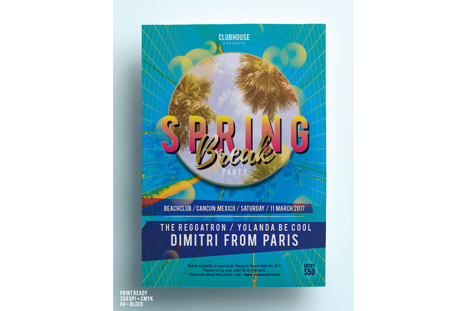 Spring Break Party Flyer example image 3