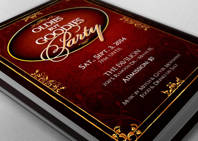 Oldies Goodies Party Flyer Template example image 2