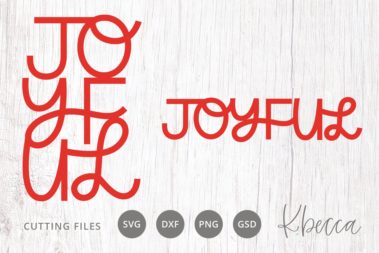Joyful Christmas SVG Cut Files example image 1