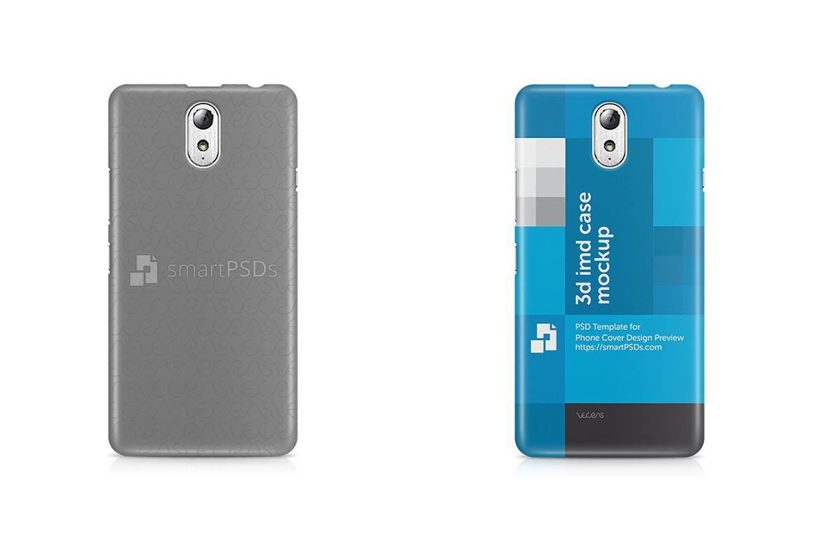 Lenovo Vibe P1M 3d IMD Mobile Case Design Mockup 2015 example image 1