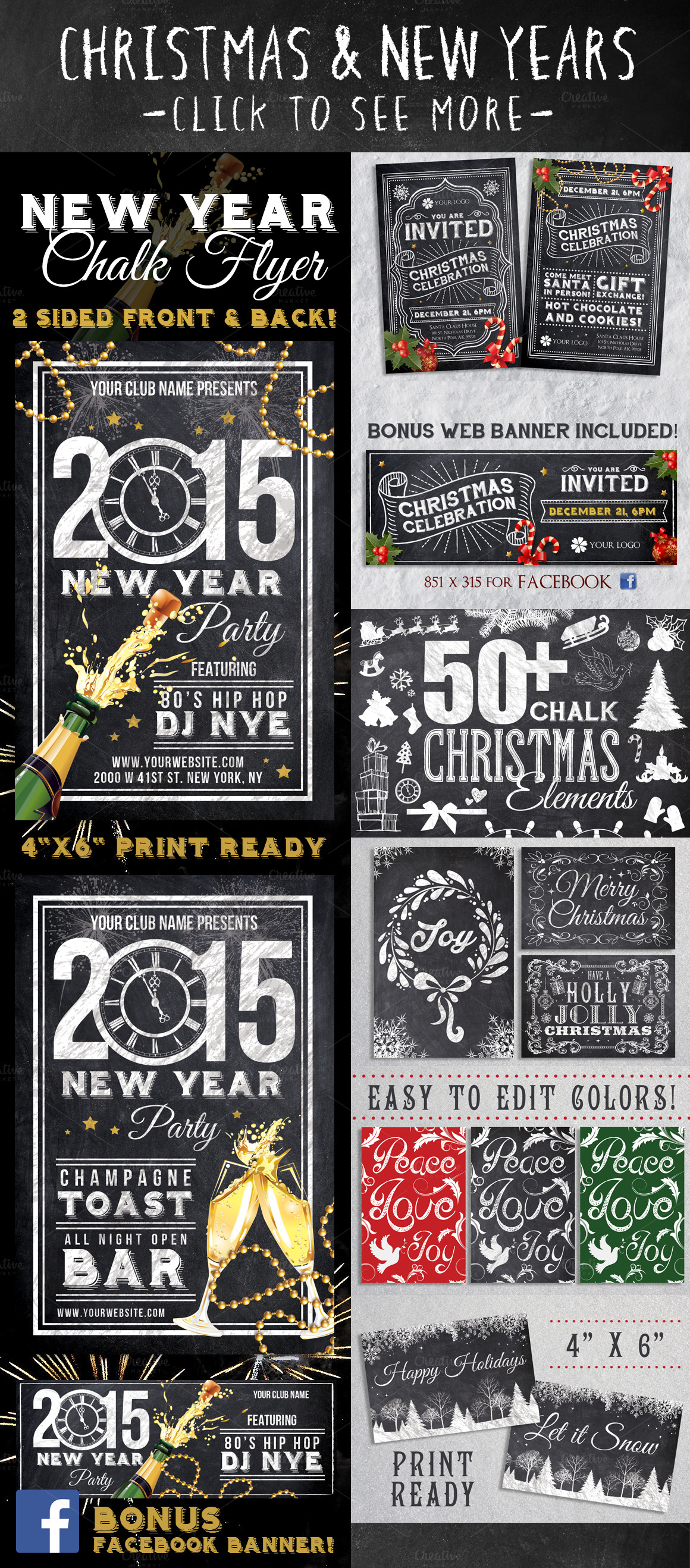 Mega Chalk Holiday Bundle 60 off example image 2