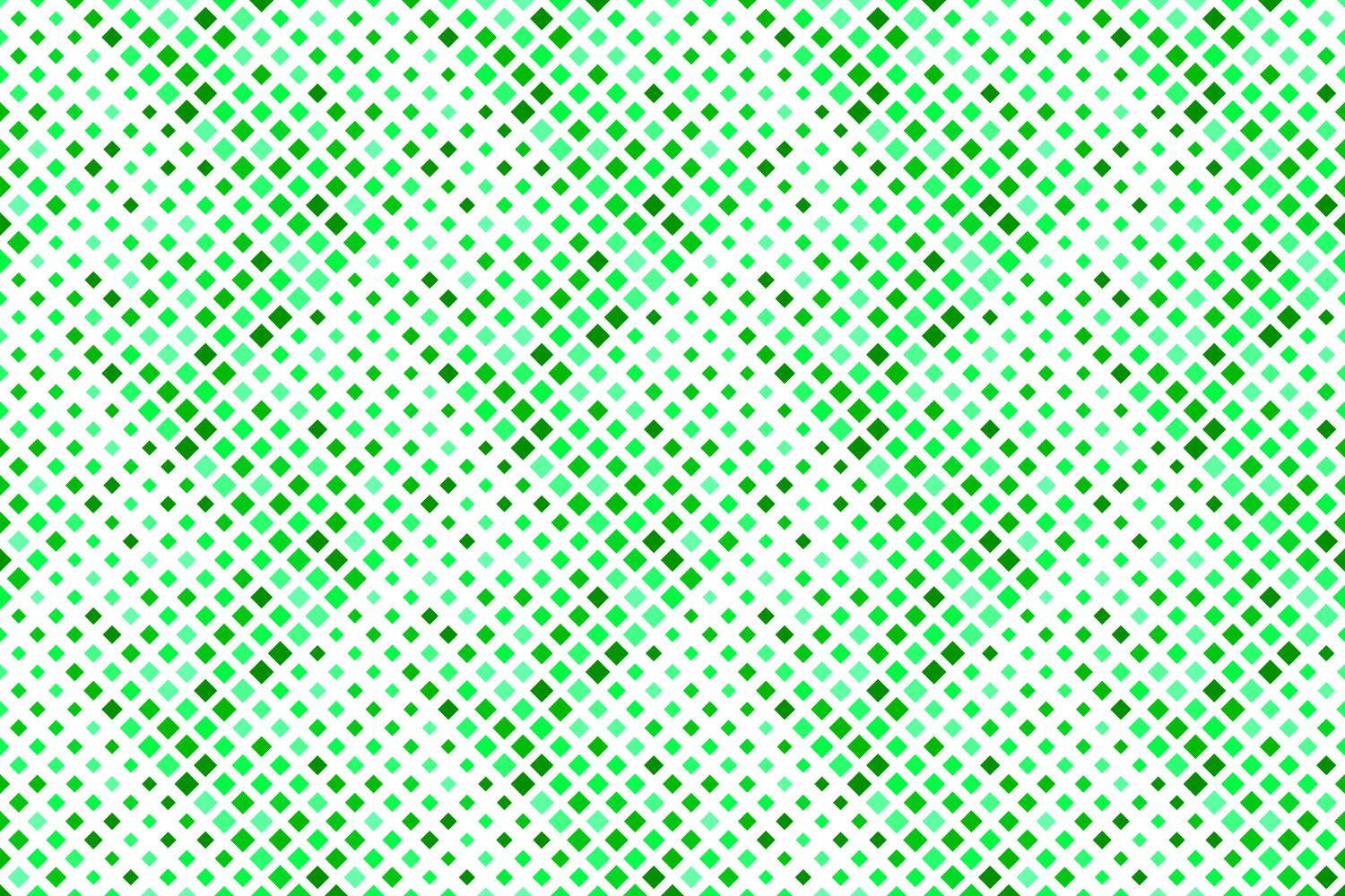 24 Seamless Green Square Patterns example image 8