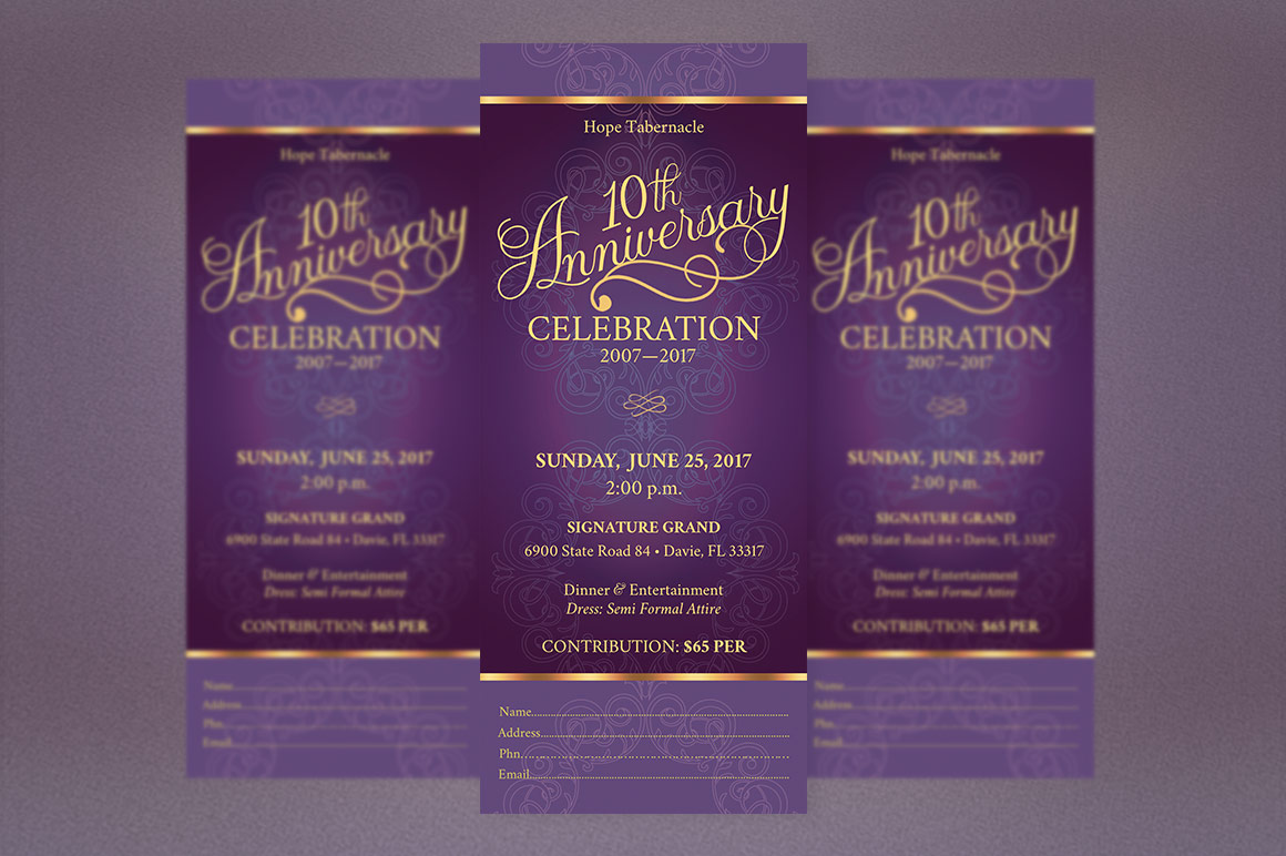 Church Anniversary Publisher Ticket Bundle example image 6