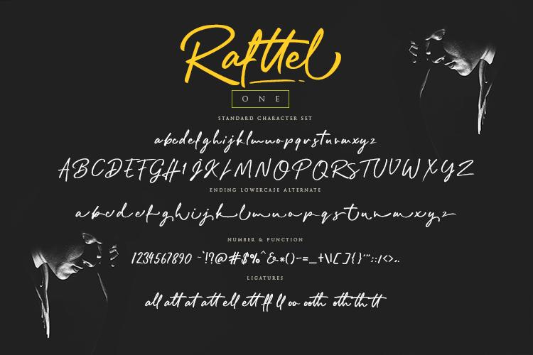 Rafttel Script Font example image 11