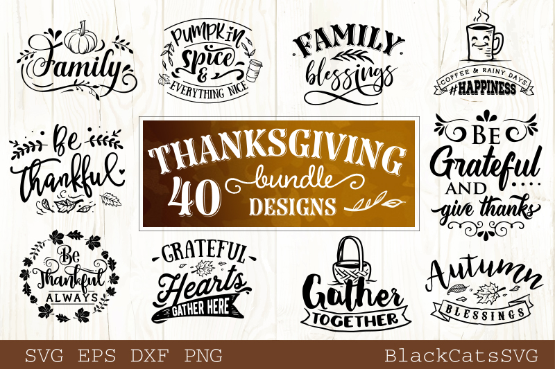 Thanksgiving SVG bundle 40 designs Fall and pumpkins SVG bun example image 4