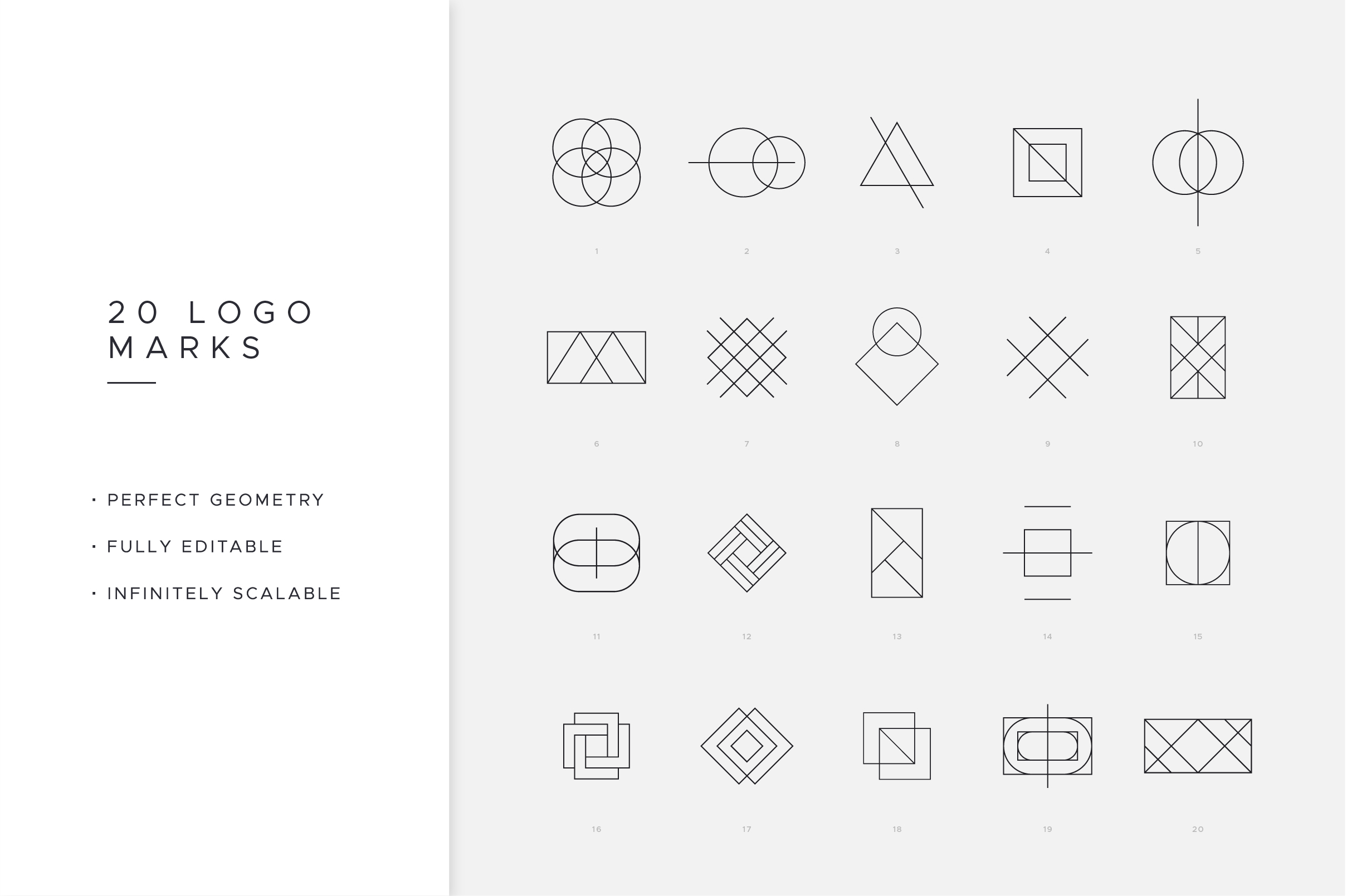 Minimal Geometric Logos - Volume 2 example image 3