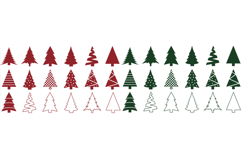 Christmas Tree SVG Bundle - Christmas Tree Clip Art example image 2