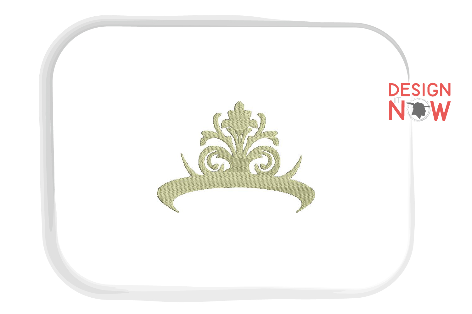 Princess Embroidery Design, Crown Embroidery Pattern example image 2