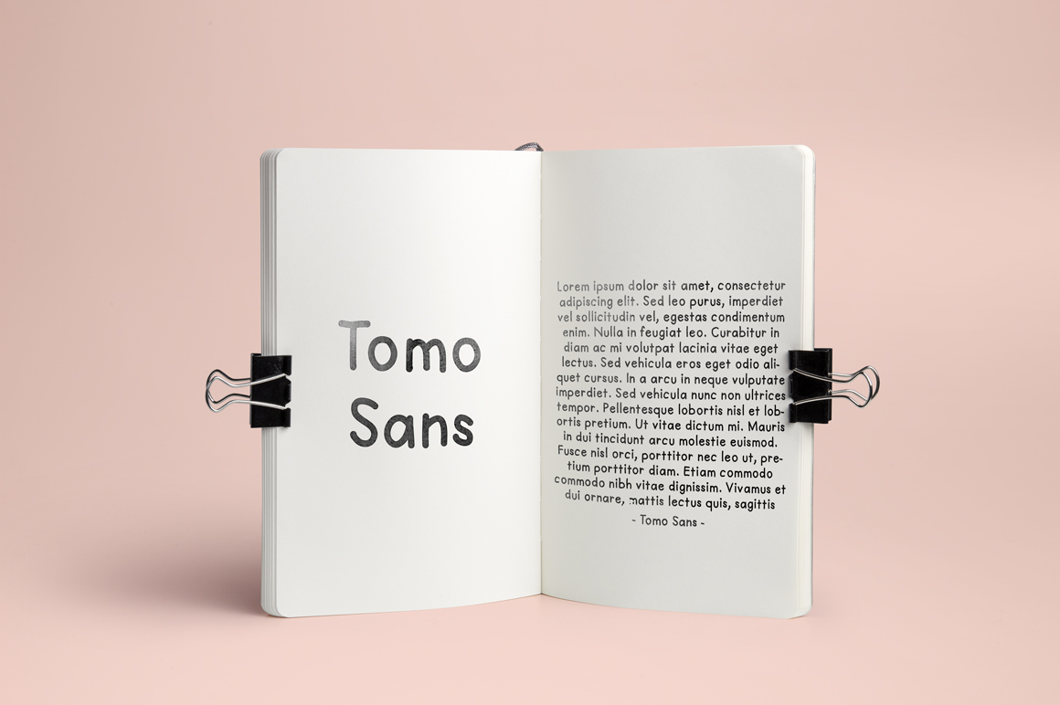 TomoSans Sans Serif Typeface example image 5