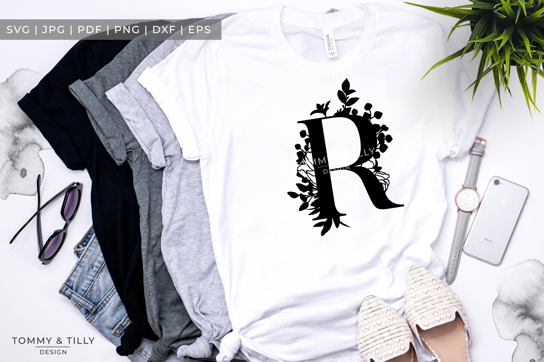 R Bouquet Letter Design - Paper Cut SVG EPS DXF PNG PDF JPG example image 3