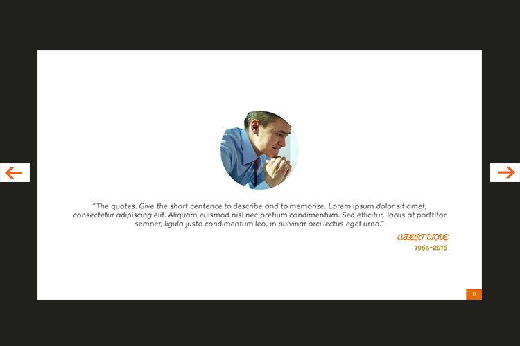 The Biography Presentation Templates example image 12