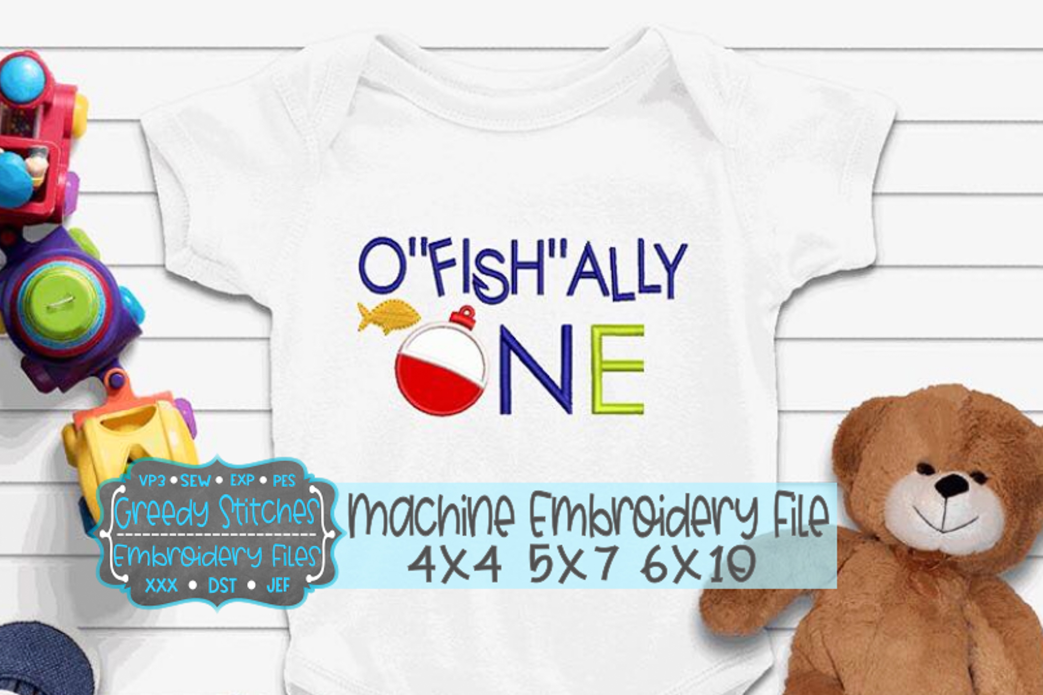 O'FISH'ALLY ONE Machne Embroidery Files example image 1