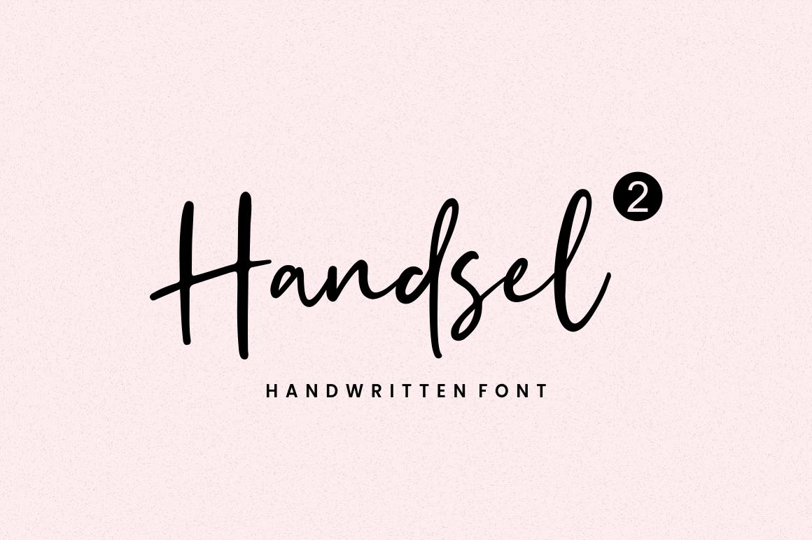 Handsel - Handwritten Font example image 2