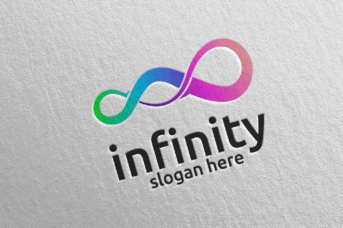 Infinity loop logo Design 34 example image 1