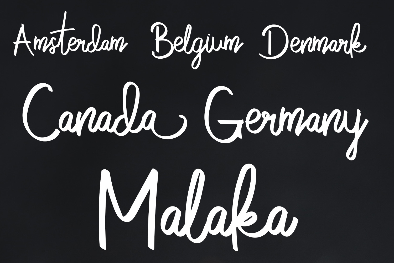 Cobain Aja Handwritten Script Font example image 4