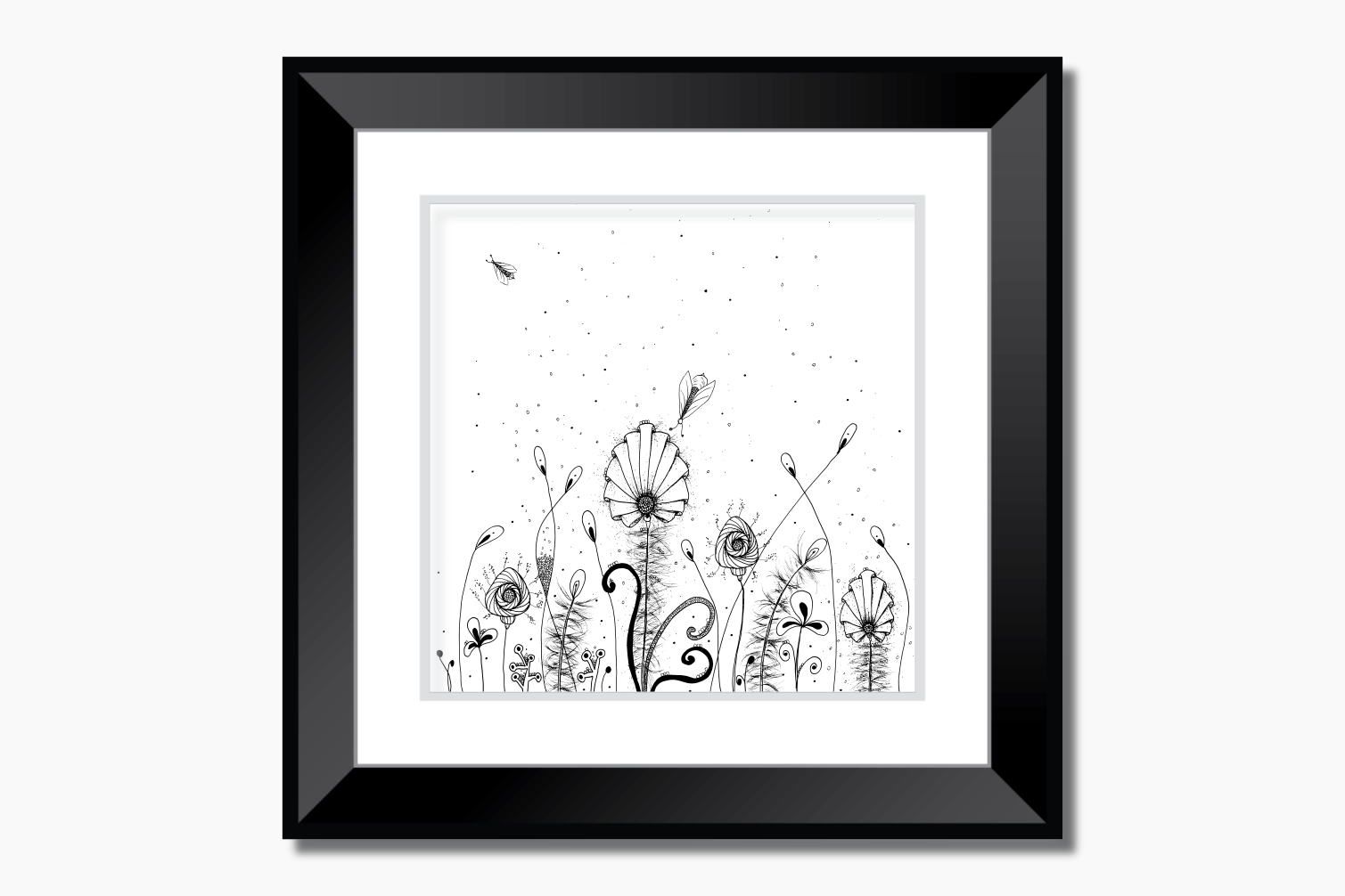 Floral Doodle Art, A1, SVG example image 6