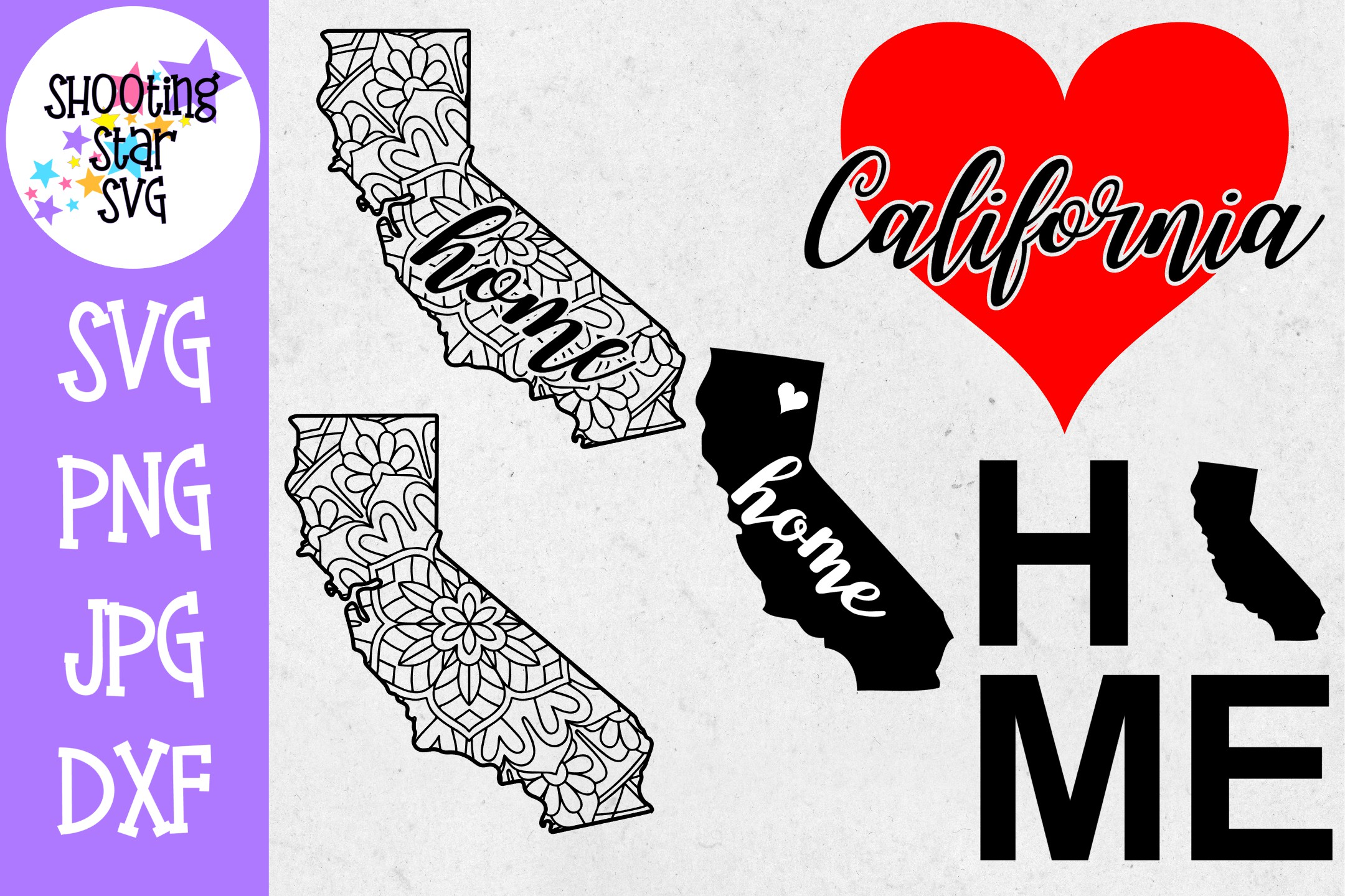 California US State SVG Decal Bundle - 50 States SVG example image 1