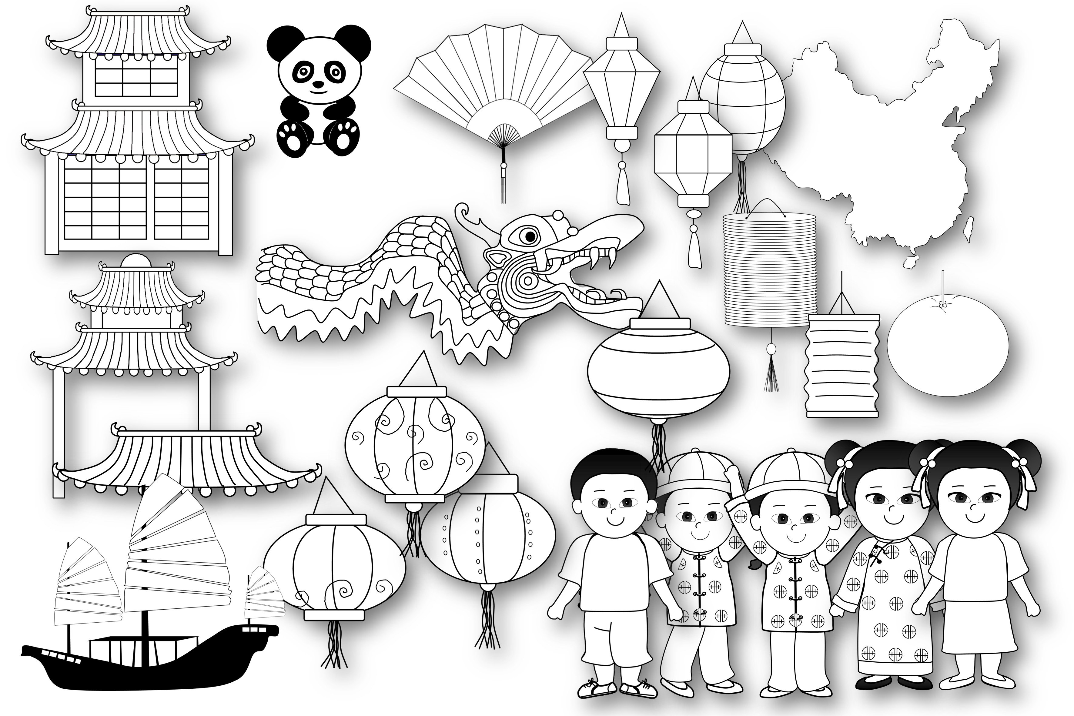 Chinese Theme Graphics example image 3