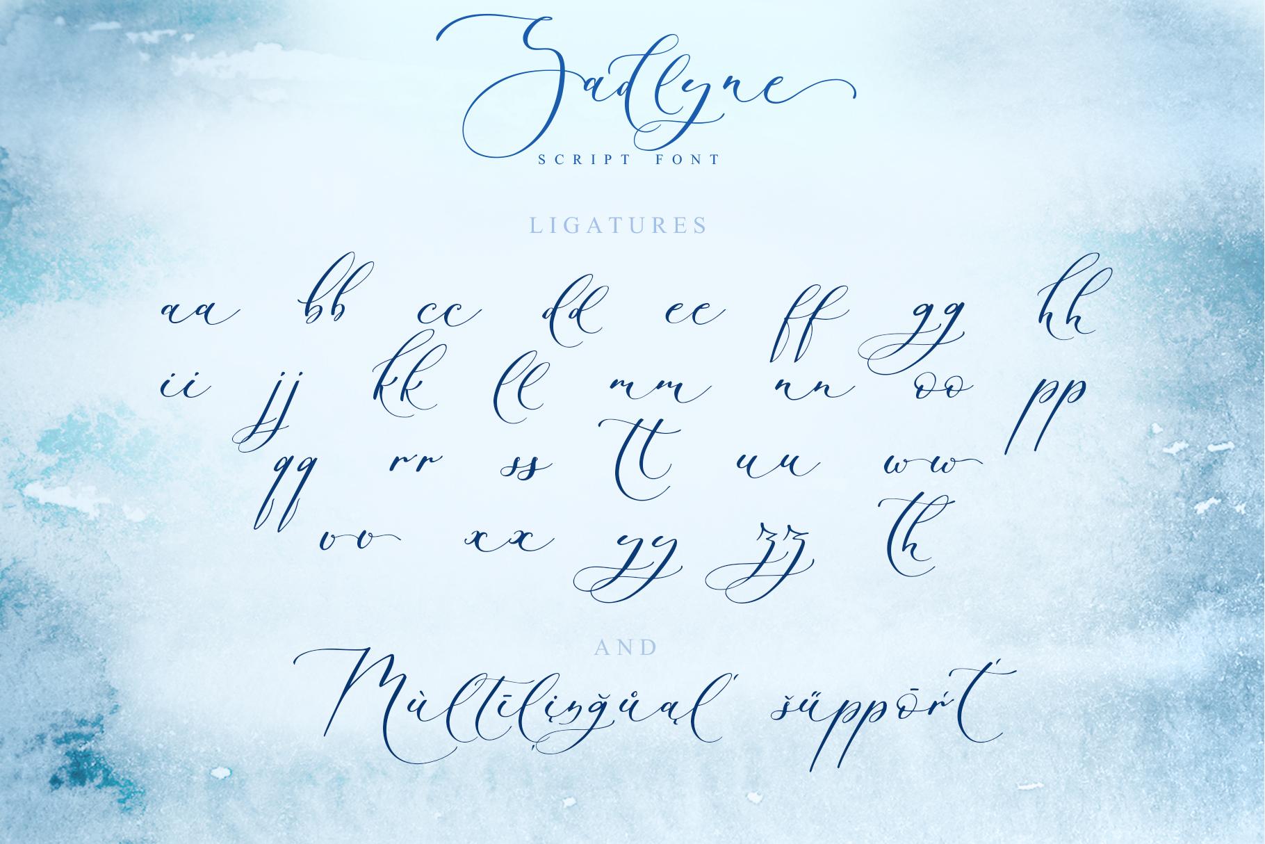 Sadlyne calligraphic font & extras example image 15