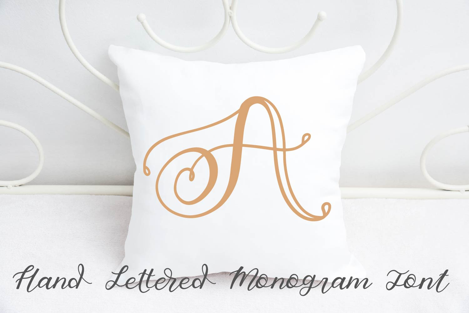 Hand Lettered Monogram Font - Perfect For Personalization! example image 3