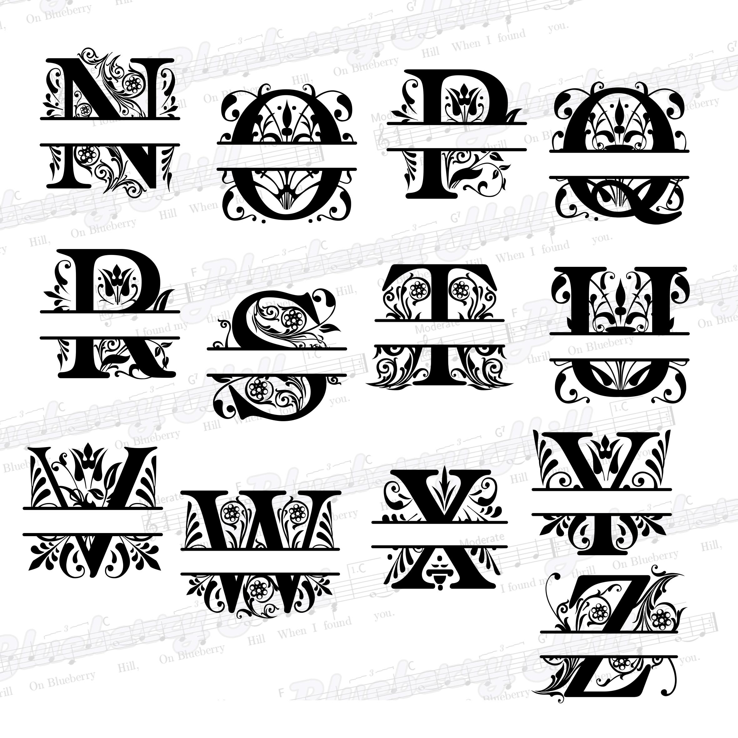 Split Monogram Svg Letter S Regal Split Alphabet Vector Free Photos